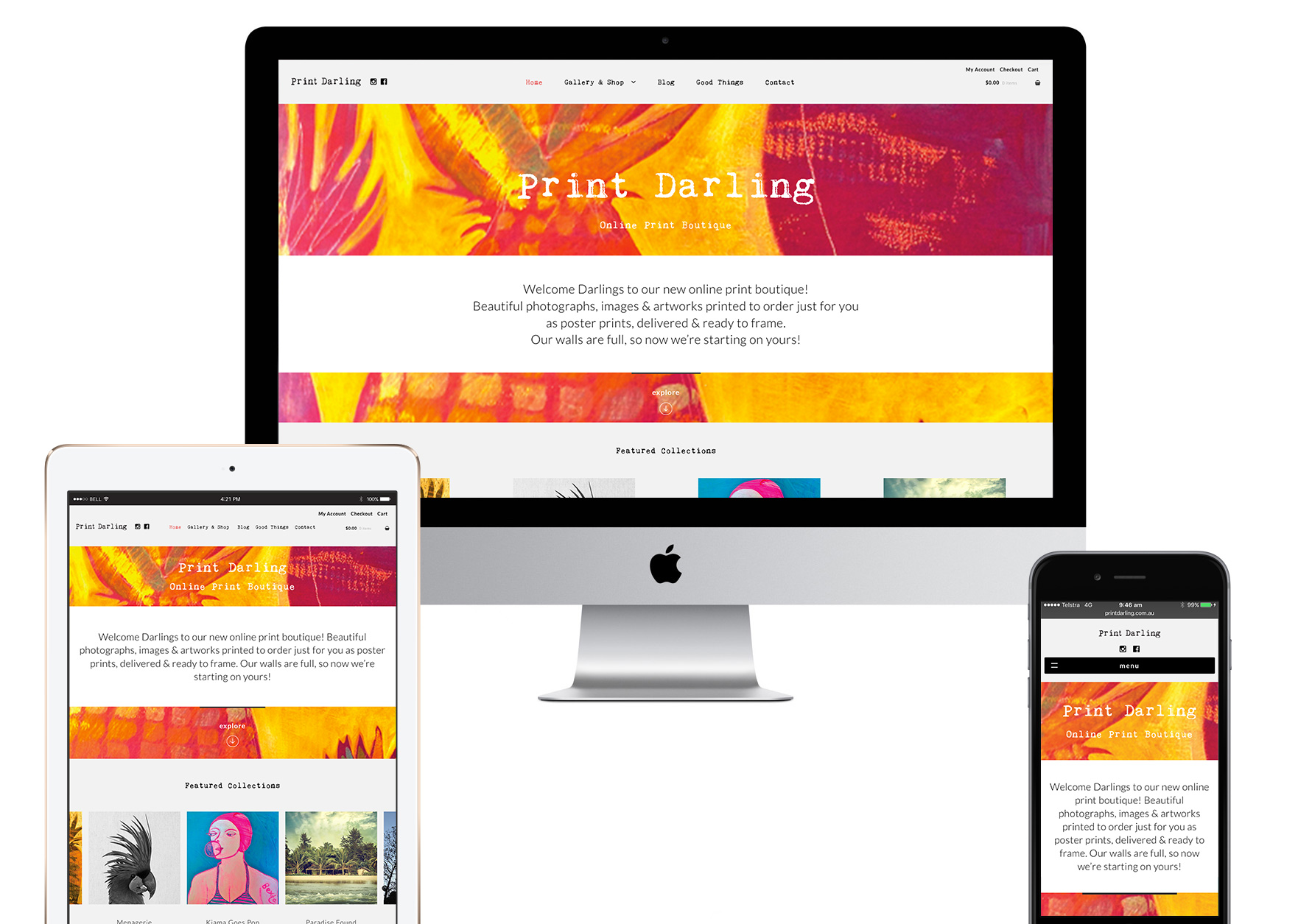 Print Darling - Responsive web design and web development