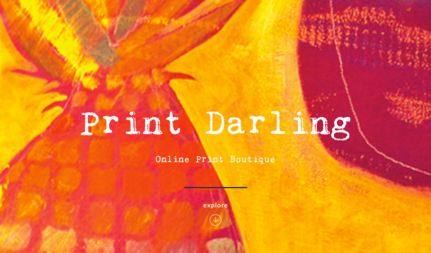 Print Darling Website design and development by Eureka Creative