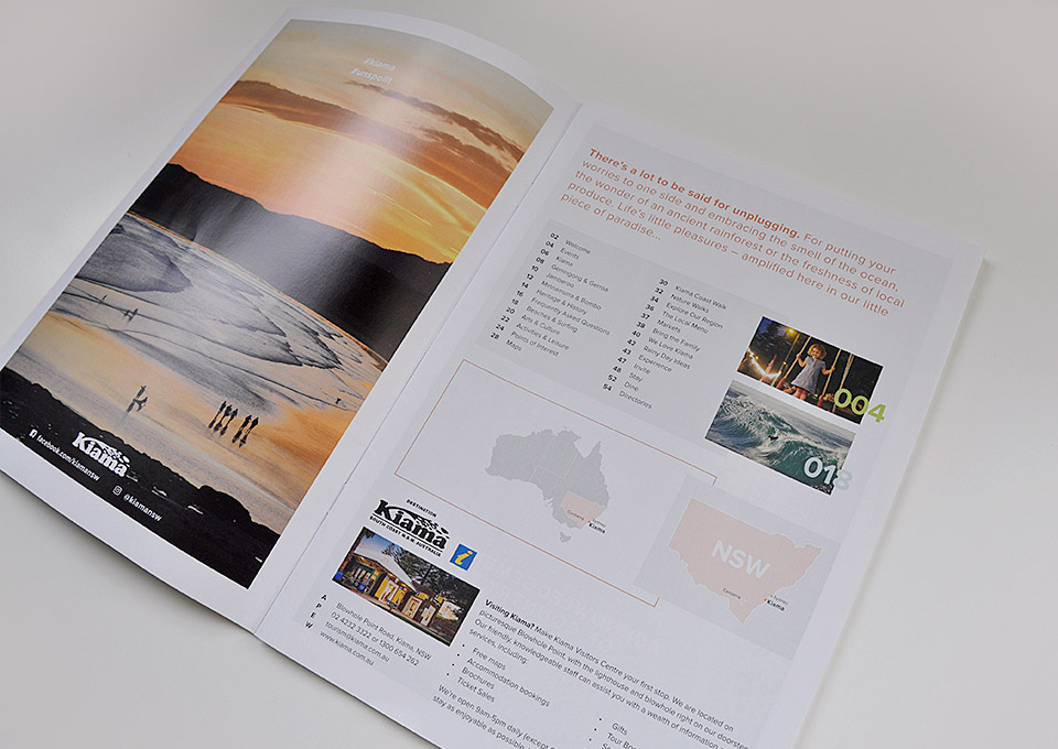 2018 Visitors Guide brochure design by Eureka Creative