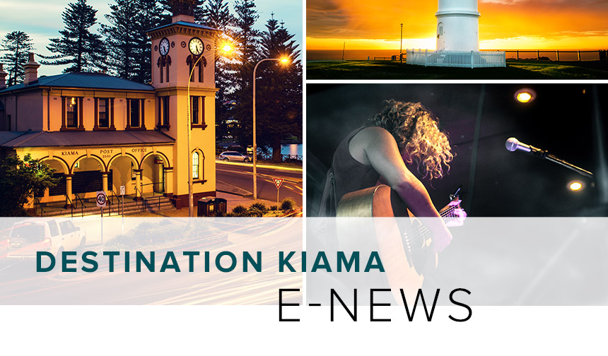 Destination Kiama enewsletter design and development by Eureka Creative