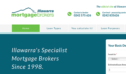 Illawarra Mortgage Brokers Website design and development by Eureka Creative