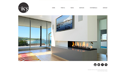 Ivy Interiors Website design and development by Eureka Creative