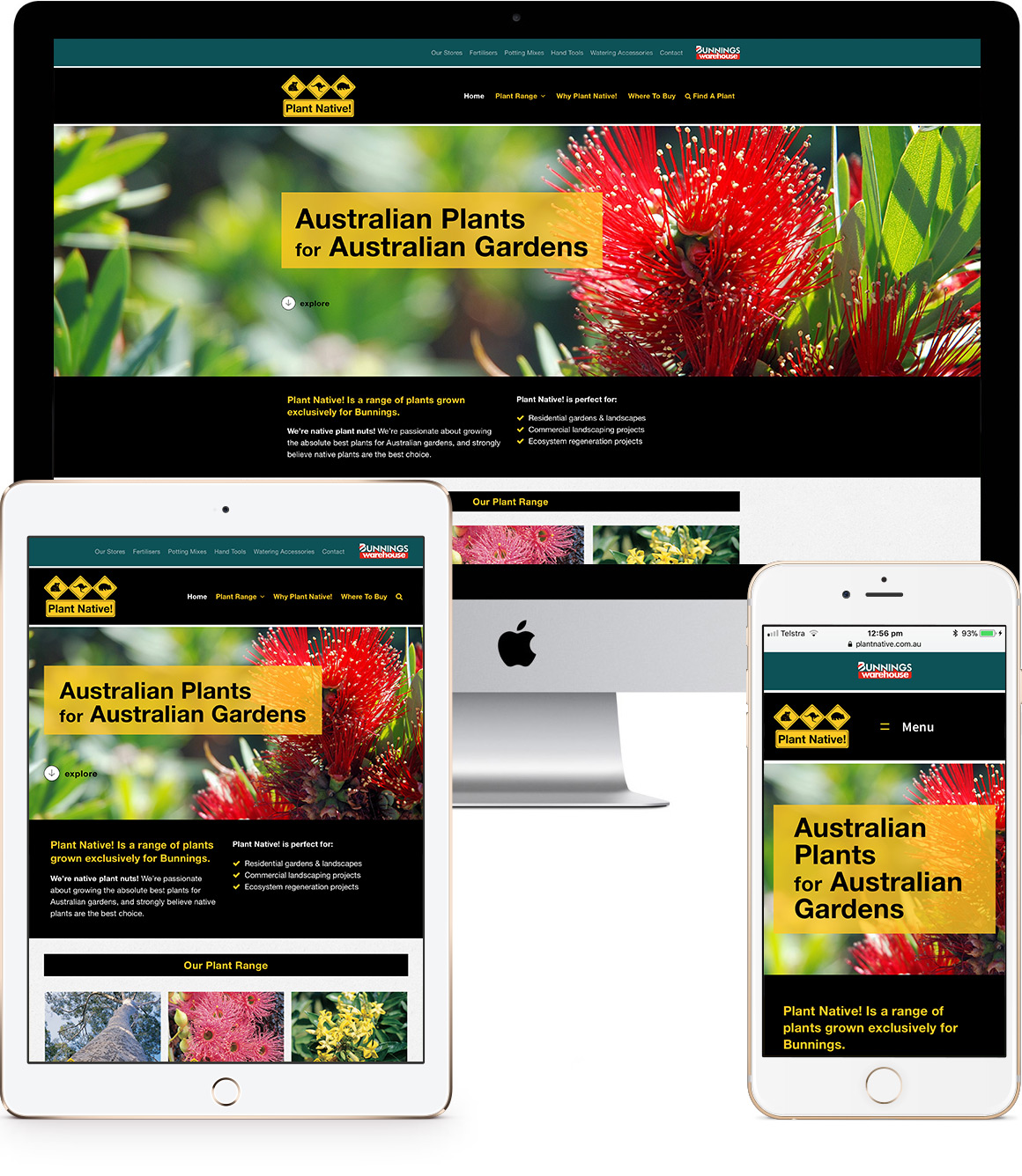 Plant Native! Website design and development
